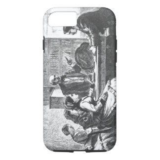 A woman negotiates with a factory manager, assiste iPhone 8/7 case