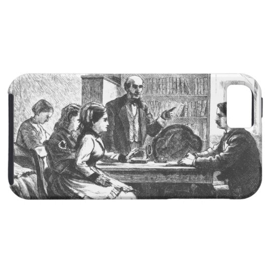 A woman negotiates with a factory manager, assiste iPhone SE/5/5s case