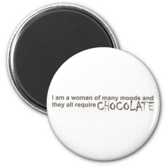 A Woman of Many Moods 2 Inch Round Magnet