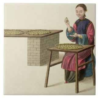A Woman Preparing Tea, plate 21 from 'The Costume Tile
