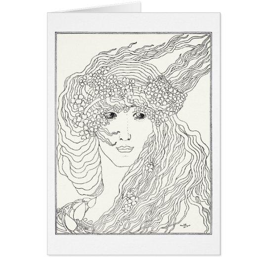A woman's head card