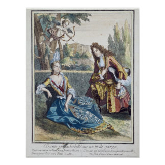 A Woman Seated on the Grass Poster