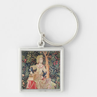 A Woman Spinning Key Chain
