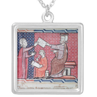 A Woman Taking an Oath Silver Plated Necklace