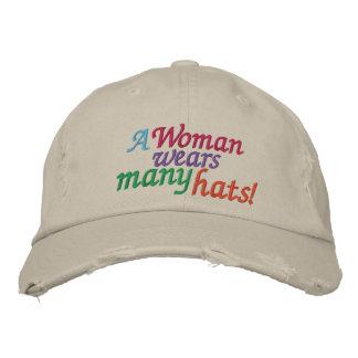 A Woman Wears Many Hats Cap