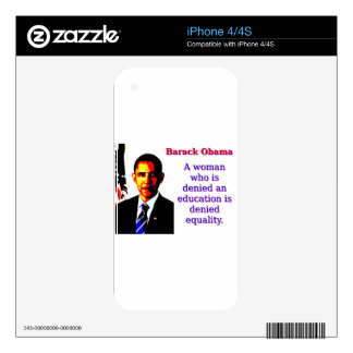 A Woman Who Is Denied - Barack Obama iPhone 4 Skin