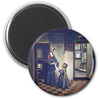 A Woman With A Child In A Pantry. [1] By Pieter De Magnet