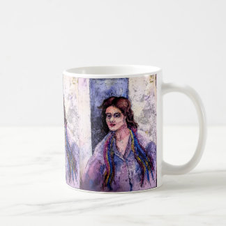 A Woman With A Scarf by AnnaSofia Coffee Mug