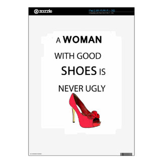 a woman with good shoes iPad 2 skin