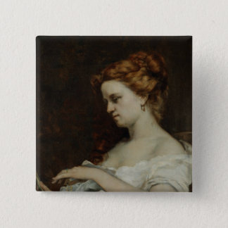 A Woman with Jewellery, 1867 Pinback Button