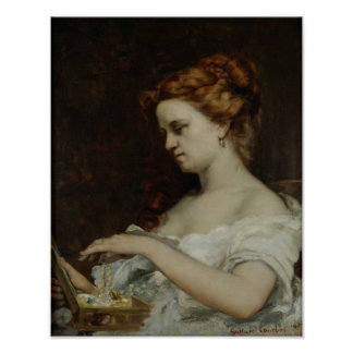 A Woman with Jewellery, 1867 Posters