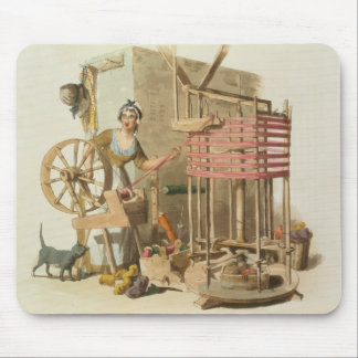 A Woman Wool Skeiner, engraved by the artist, 1808 Mouse Pad