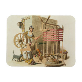 A Woman Wool Skeiner, engraved by the artist, 1808 Rectangular Photo Magnet