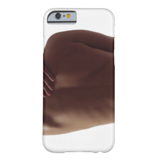 A woman's bare back with one hand reaching barely there iPhone 6 case