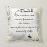 """""""A womans hands"""" Quote Throw Pillows"""