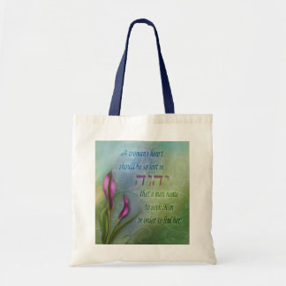 A Womans Heart - Calla Lily Budget Tote Bag