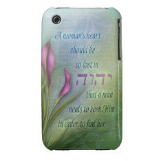 A Womans Heart - Calla Lily Case-Mate iPhone 3 Case at Zazzle
