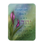 A Womans Heart - Calla Lily Rectangle Magnets