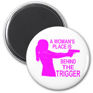 A WOMAN'S PLACE 2 INCH ROUND MAGNET