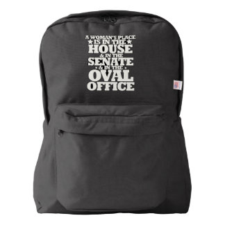 A womans place in politics backpack