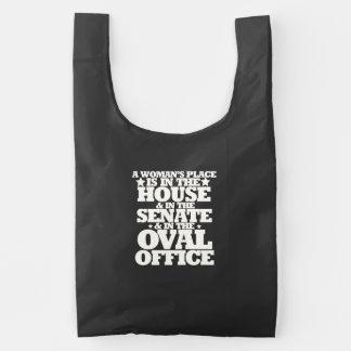 A womans place in politics reusable bag