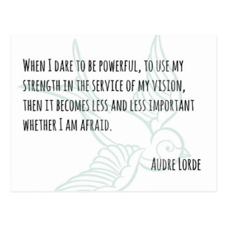 A Woman's Strength - Audre Lorde quote postcard