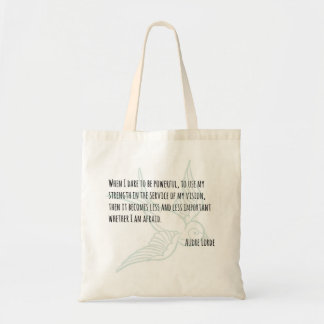 A Woman's Strength - Audre Lorde quote tote Budget Tote Bag