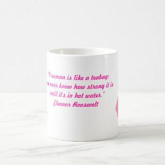 A woman's strength magic mug