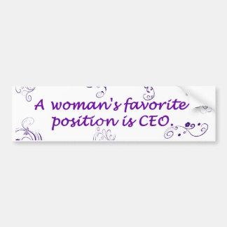 A Women's Favorite Position Bumper Sticker