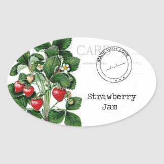 A wonderful label to customise your strawberry jam sticker