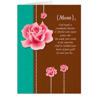 A Wonderful Mother Elegant Mother's Day Card