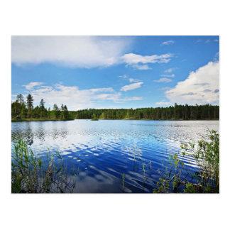 A Wonderful View Of Finland'S Saimaa Lake Postcard