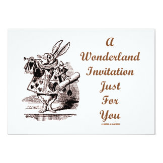 A Wonderland Invitation Just For You White Rabbit