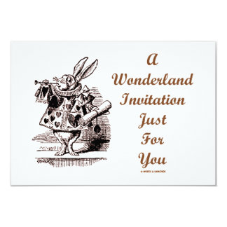A Wonderland Invitation Just For You White Rabbit