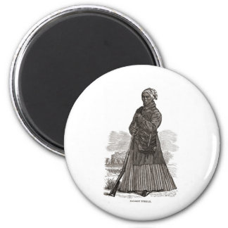 A woodcut image of Harriet Tubman, before 1869 2 Inch Round Magnet