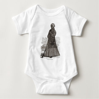 A woodcut image of Harriet Tubman, before 1869 Baby Bodysuit