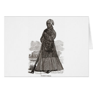 A woodcut image of Harriet Tubman, before 1869 Greeting Card