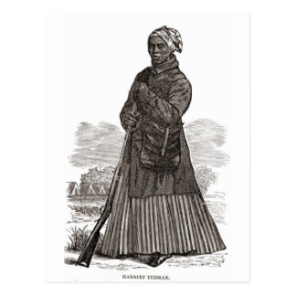 A woodcut image of Harriet Tubman, before 1869 Postcard