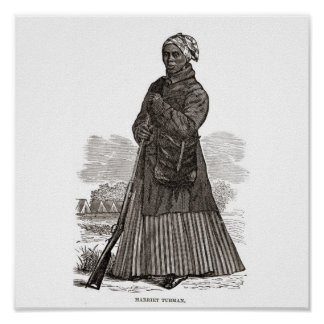 A woodcut image of Harriet Tubman, before 1869 Print