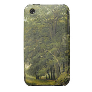 A Wooded Landscape (oil on paper on panel) iPhone 3 Case-Mate Cases