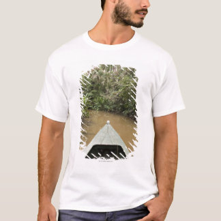 A wooden canoe made of Eucylptus tree floats in 2 T-Shirt