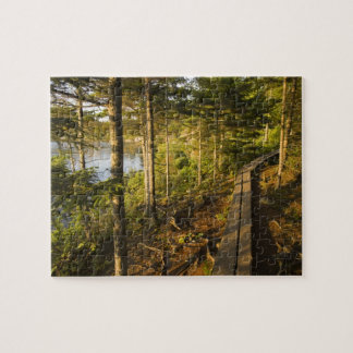 A wooden walkway in Acadia National Park Maine Jigsaw Puzzle