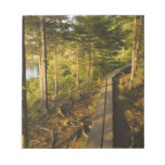 A wooden walkway in Acadia National Park Maine Memo Notepads