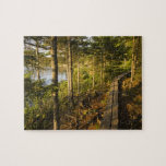 A wooden walkway in Acadia National Park Maine Puzzle