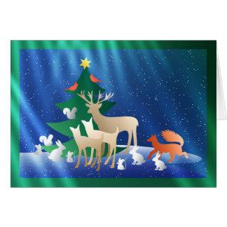 A Woodland Animal Christmas Greeting Card