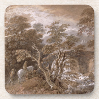 A Woodland Pool with Rocks and Plants c 1765-70 Drink Coaster