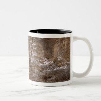 A Woodland Pool with Rocks and Plants, c.1765-70 ( Two-Tone Coffee Mug