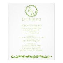 A Woodsy Elegance | Wedding Vine Guest Information Flyer