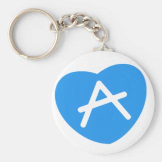 A Word Love Basic Round Button Keychain