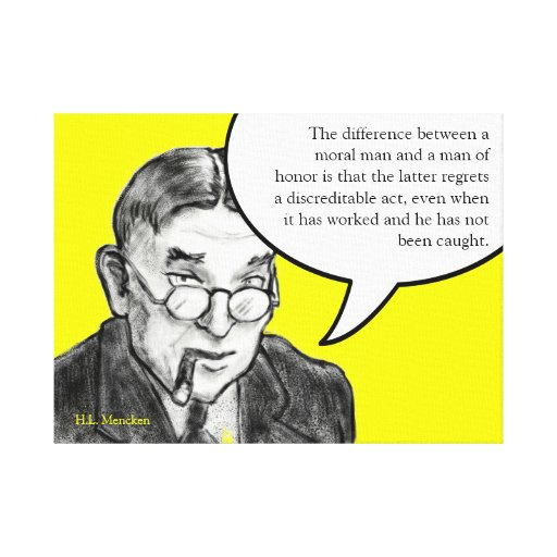 A word of advice from H.L. Mencken Canvas Print